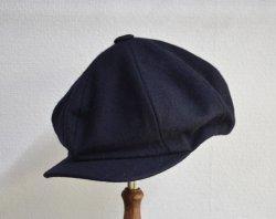 [ ROLL ] ワーキングクラスメルトンキャップ /Working class melton cap (navy)