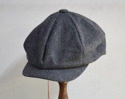 [ ROLL ] ワーキングクラスメルトンキャップ /Working class melton cap (gray)