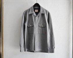 [ GERUGA ] オープンカラーワークシャツ / OPEN COLLAR WORk SHIRTS