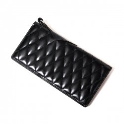 [ RUDE GALLERY BLACK REBEL ]  OUTSIDERS DIA QUILTED LEATHER WALLET <PORTER COLLABORATION>(black)