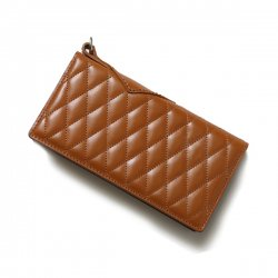 [ RUDE GALLERY BLACK REBEL ]  OUTSIDERS DIA QUILTED LEATHER WALLET <PORTER COLLABORATION>(CAMEL)