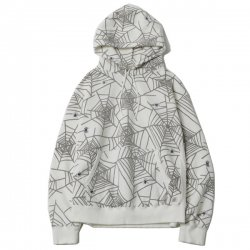 [ RUDE GALLERY BLACKREBEL ] スパイダーネットスウェットパーカー / SPIDER NET SWEAT PARKA(white)