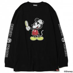 [ RUDIE'S x BYRD ] ルックスリックロングスリーブ / LOOK SLICK L/S Tee <MICKEY MOUSE>(bk)