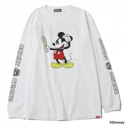 [ RUDIE'S x BYRD ] ルックスリックロングスリーブ / LOOK SLICK L/S Tee <MICKEY MOUSE>(wh)