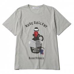 [ RUDE GALLERY ] バンクローバーTシャツ / BANKROBBER Tee (gr)