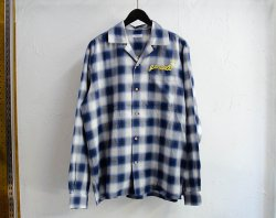 [ GAVIAL ] ロングスリーブオープンカラーシャツ / l/s open coller shirts (blue)