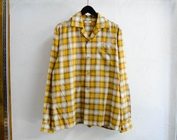 [ GAVIAL ] ロングスリーブオープンカラーシャツ / l/s open coller shirts (yellow)