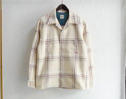 [ GERUGA ] オープンカラーシャツ / OPEN COLLAR SHIRTS -COTTON CHECK-