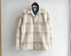 [ GERUGA ] オープンカラーシャツ / OPEN COLLAR SHIRTS -COTTON CHECK-