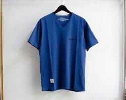 [ GERUGA ]  タンギスコットンVネックTシャツ / TANGUIS COTTON V-NECK Tee(d-bl)
