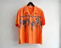 [ Star of Hollywood ] シュランケンヘッド オープンシャツ / Shrunken Head OP Shirt(orange)