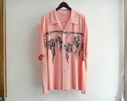 [ Star of Hollywood ] シュランケンヘッド オープンシャツ / Shrunken Head OP Shirt(pink)