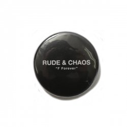 [ RUDE GALLERY ] カンバッジ -ルードアンドカオス- / CAN BADGE - RUDE&CHAOS (25mm)