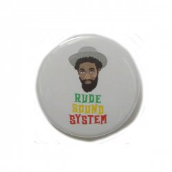 [ RUDE GALLERY ] カンバッジ -ルードサウンドシステム- / CAN BADGE - RUDE SOUND SYSTEM (25mm)