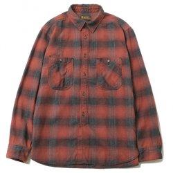 [ RUDE GALLERY BLACKREBEL ] チェックワークシャツ / CHECK WORK SHIRT (red)