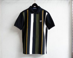 [ FREDPERRY ] ニットストライプポロシャツ / Knitted Stripe Polo Shirt