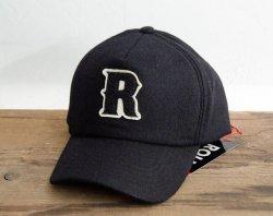 [ ROLL ] メルトンキャップ / Melton Cap 「R」 (black)