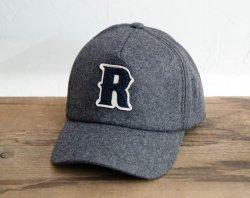 [ ROLL ] メルトンキャップ / Melton Cap 「R」 (gray)