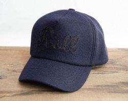 [ ROLL ] メルトンキャップ / Melton Cap 「Roll」 (navy)
