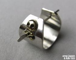 [ amp japan ] skullカーフピアス (8AM-105)