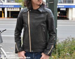 [ lost control ] バッファローレザーダブルジャケット / Buffalo Leather Double Jacket