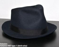 [ Babylon ] Babylon Hat Type-1 (derk navy)