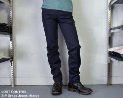 [ LOST CONTROL ] センタープレスドレスジーンズ/ S-P Dress Jeans (Navy)