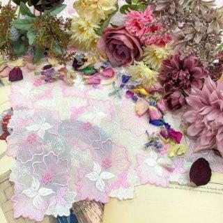 エレガントなファッションひざ掛け大判ハンカチ【グローリー】ピンクラメ