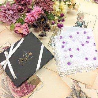 雅に咲く桜刺繍贈り物プレゼントレースハンカチ【さくら】