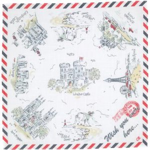 Cath Kidston ギフトカード付ハンカチ Wish you were here