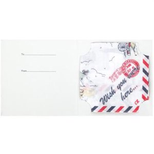 Cath Kidston ギフトカード付ハンカチ Wish you were here-2-