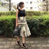 <img class='new_mark_img1' src='//img.shop-pro.jp/img/new/icons1.gif' style='border:none;display:inline;margin:0px;padding:0px;width:auto;' />ヴィンテージ風スカーフ柄コットンワンピース