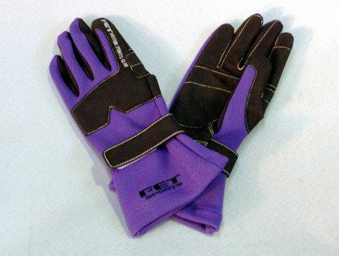 FET 3Dレーシンググローブ(グラブ) 紫(パープル)/黒