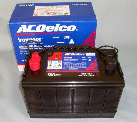 ACデルコ ディープサイクルバッテリー M31MF ボイジャー