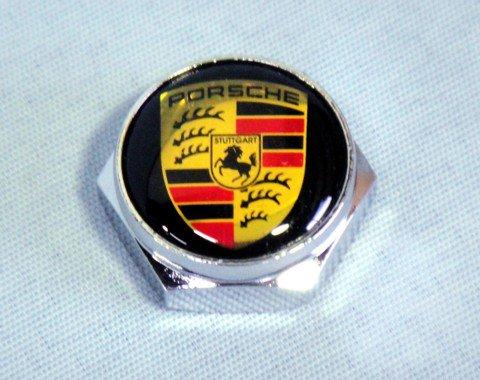 ポルシェ ロゴ入りナンバープレートボルトカバー