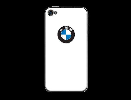 iPhone4/4s用BMWロゴ入り背面保カバー ホワイト