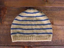 ボーダーニット帽(イエロー)