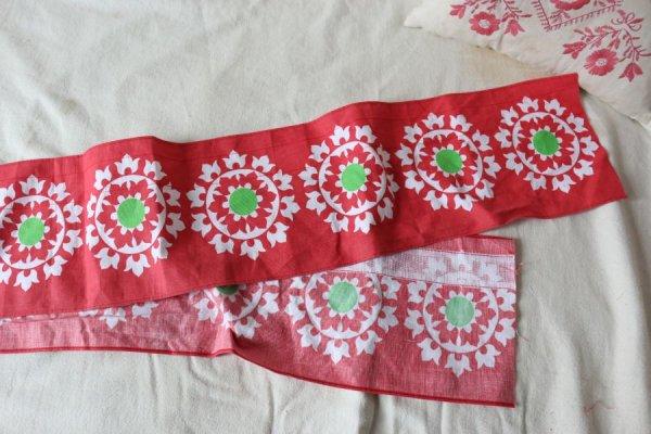 トルコ風のお花のミニカーテン