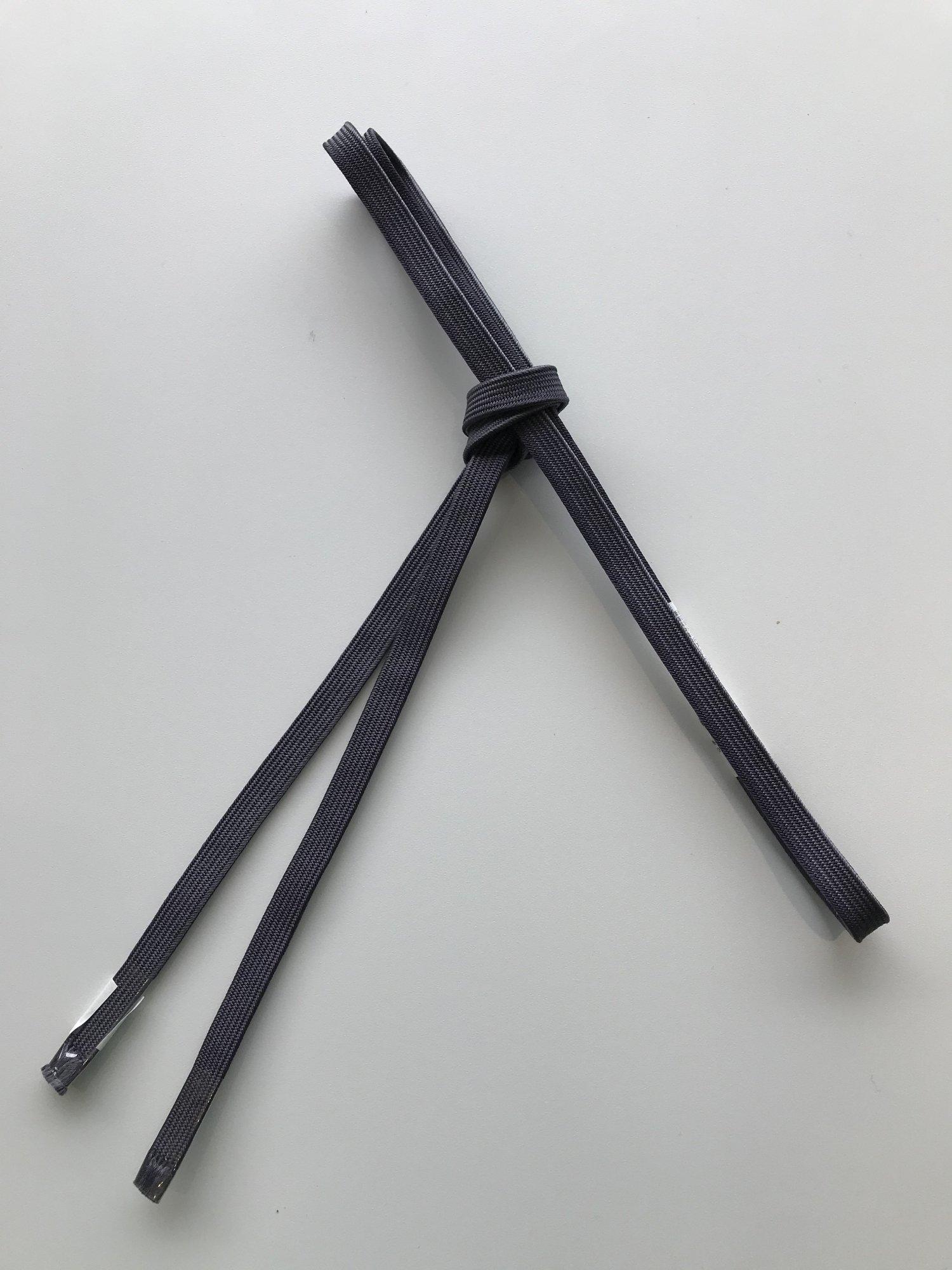 (48)正絹 三分紐 濃灰×薄灰