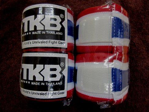 ボクシング通販、ムエタイ、キック TOP KING バンテージ 5カラー タイ国旗、黒、白、赤、ピンク