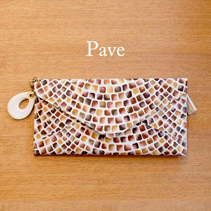 石畳のような発色のイタリアンエアメルを使用した薄い長財布