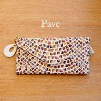 Pave 薄型 長財布 / レディース(本革 パヴェ)