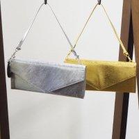 ステンレスメタリックレザーのボックス型長財布