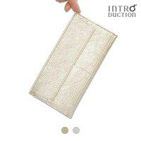 ポケットウォレットL シャンパンゴールド シルバー 薄さ3mm極薄長財布山羊革