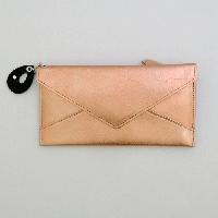メタリック長財布