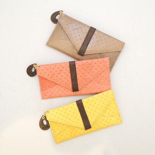 山羊革の薄いエナメル長財布