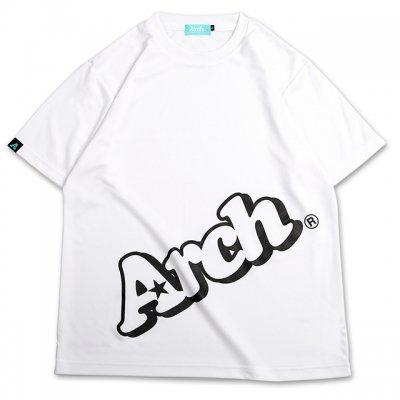 バスケ スローピングロゴ Tシャツ ホワイト/ブラック