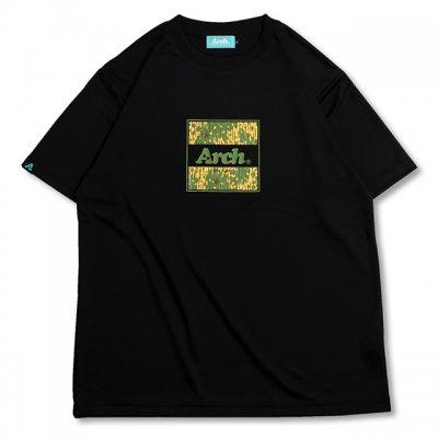 バスケ レインカモ ボックスロゴ Tシャツ ブラック