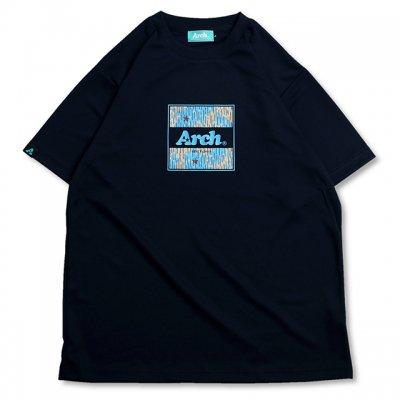 バスケ レインカモ ボックスロゴ Tシャツ  ネイビー