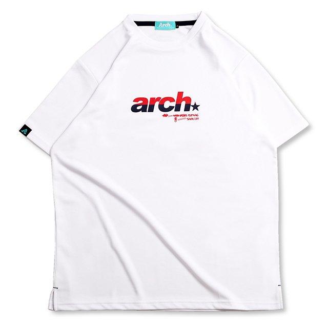 バスケ アーチ スプリット スポーティロゴ Tシャツ ホワイト